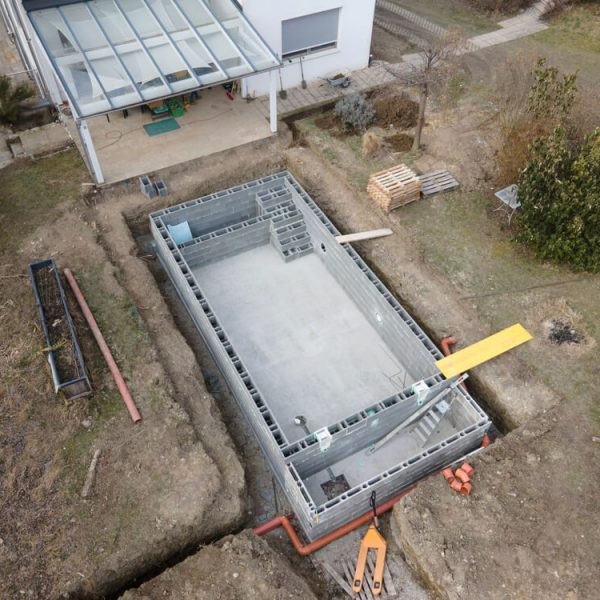 Stavba betónového bazéna (bazén z betónu) Bratislava NajBazén