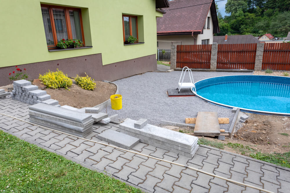 Vonkajší bazén na dvore na kľúč Bratislava Najbazén